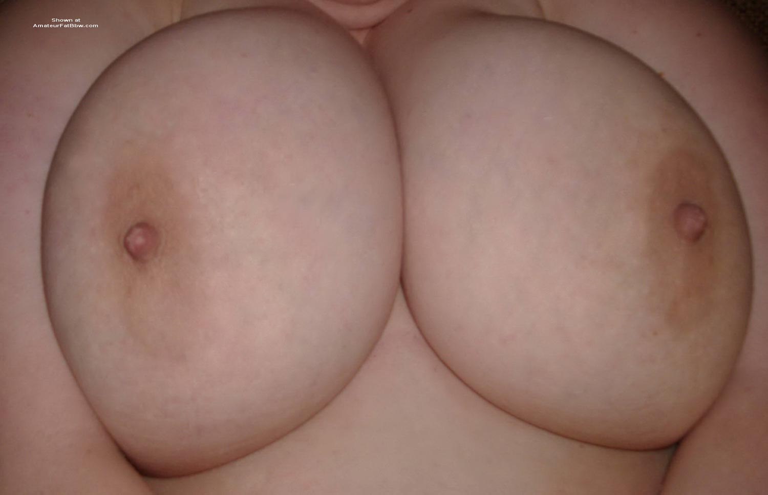 Amateur huge natural tit
