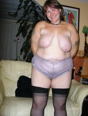 Fat girl in  lingerie